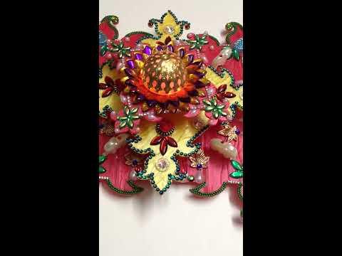 3- Layar marble effect acrylic rangoli.