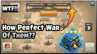 Clash of Clans⭐WTF!! Perfect War 3-Star All The Base⭐Top 5 Attack for You !!