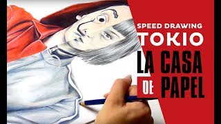 How to draw La Casa de Papel, Tokio (Tokyo) ? Speed Drawing