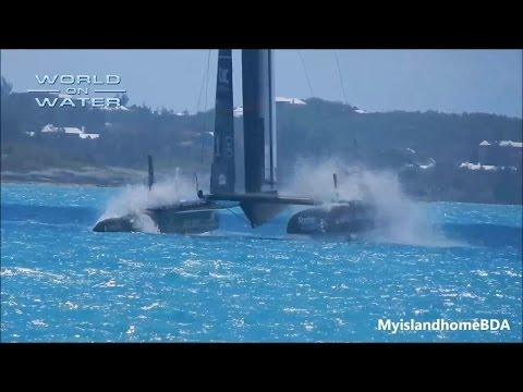 WoW 35th Americas Cup Report #7 May 07 17 LR BAR Nose Down, ETNZ Pedals explained more