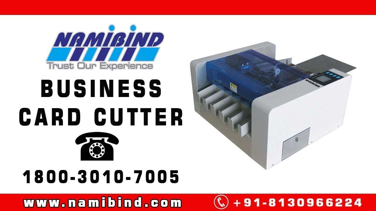 A3 Id Card Cutter Machine | Business Card Cutter -Namibind - YouTube