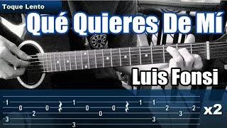 Como tocar QUE QUIERES DE MI de Luis Fonsi en Guitarra | Tutorial Facil y Rapido con Demo