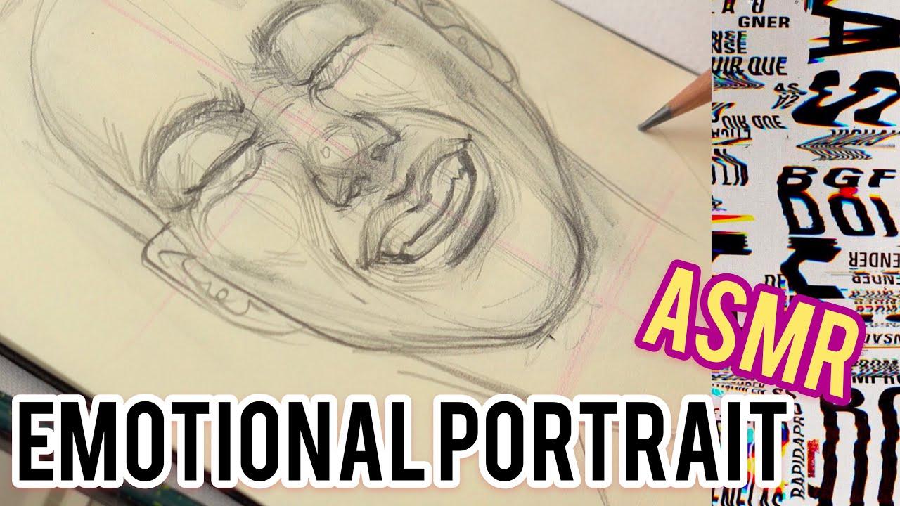 Не туториал Как рисовать портрет быстро| Рисую быстрые скетчи легко и просто