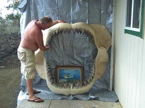 GREAT WHITE SHARK JAW of epic size
