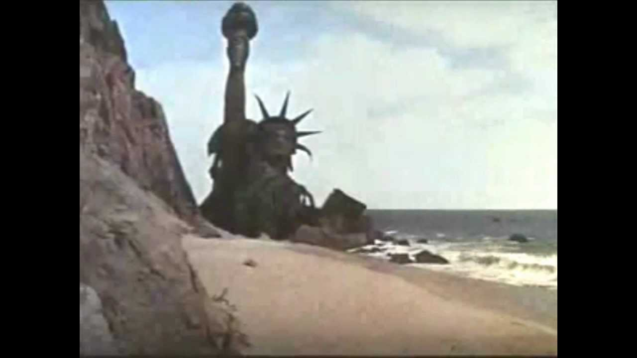 Image result for statue of liberty planet of the apes you tube