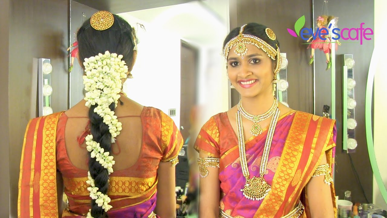 traditional bridal makeup south indian bride - youtube