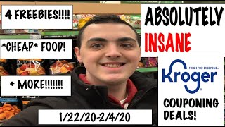 ABSOLUTELY INSANE Kroger Couponing Deals!--1/22/20-2/4/20-- 4 FREEBIES,