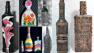 13 идей декора бутылок. Декор своими руками