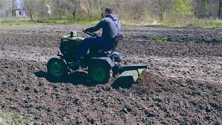 Фрезерование почвы с помощью мототрактора