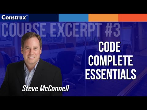 Code Complete - Code Optimization - Construx OnDemand Excerpt