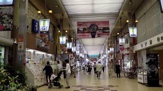 Walking in HIMEJI city Japan - Arcade Area - Hyogo Prefecture