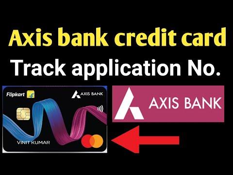 Axis Bank Credit Card Track Application No.