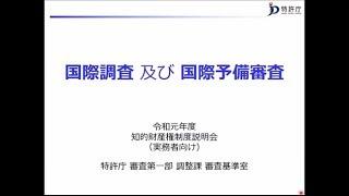 動画 令和元年度知的財産権制度説明会(実務者向け) 20. 国際調査及び国際予備調査