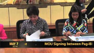 moa signing with pag ibig fund and bir