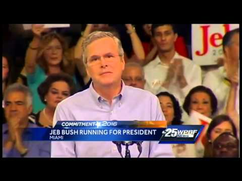 Bush Electrifies Crowd In Miami