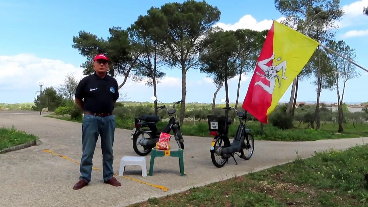 Gara Piaggio Ciao contra Piaggio Si. Wyścig Ciao kontra Si. Pędzimy po flagę Sycylii.