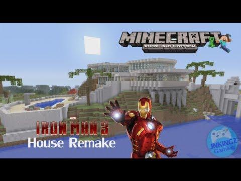 Minecraft Xbox 360 Iron Man 3 Tony Stark Mansion Tour