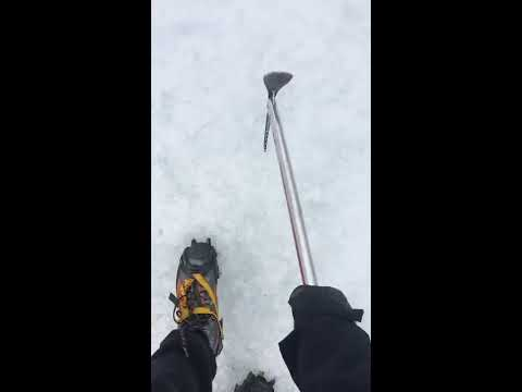 ASMR Live - Climbing glacier in Iceland - ICE BREAKING