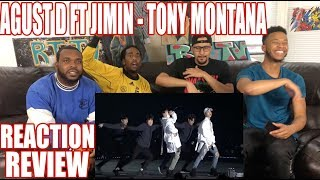 AGUST D FT JIMIN TONY MONTANA PERFORMANCE REACTION REVIEW