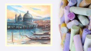 Картина за 10 минут! Видео урок Рисуем Венецию Пастелью! #Dari Art(Венеция. Город на воде. Очень красивое местечко Италии. Давайте вместе изобразим этот прекрасный уголок..., 2015-03-10T10:14:31.000Z)