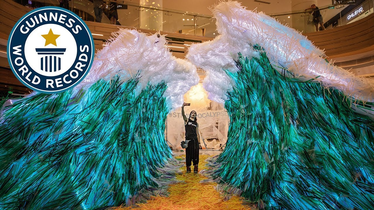 This amazing sculpture is made from thousands of recycled straws ...
