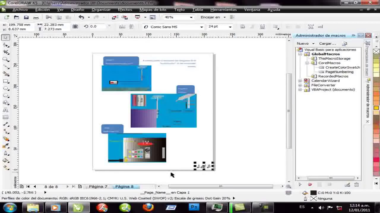 Macros for coreldraw x8 - Numerar Paginas Con Macros Corel Draw