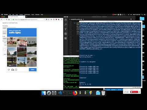 The Google reCaptcha solver bot that I made in action  - Python