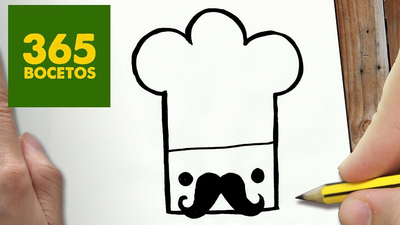 Como Dibujar Gorro Chef Kawaii Paso A Paso Dibujos Kawaii