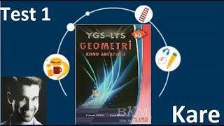 Esen Yayınları, Ygs-Lys Konu Anlatımlı Geometri, Kare, Test 1