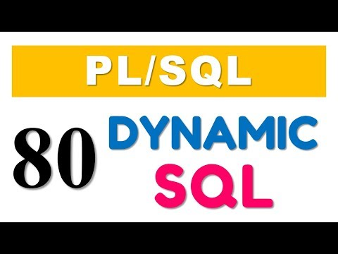 Waching daily mar 7 2018 the you tube plsql tutorial 80 introduction to native dynamic sql by manish sharma duration 431 fandeluxe Choice Image