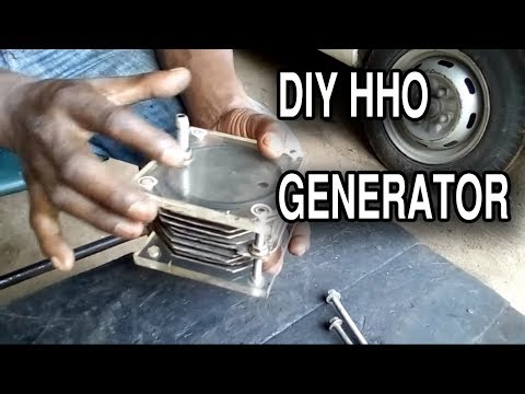 HHO Generator - Water to Fuel Converter   Dry cell   hydrogen gas   Tutorial