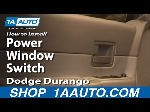 How To Replace Power Window Switch 04 09 Dodge Durango Youtube