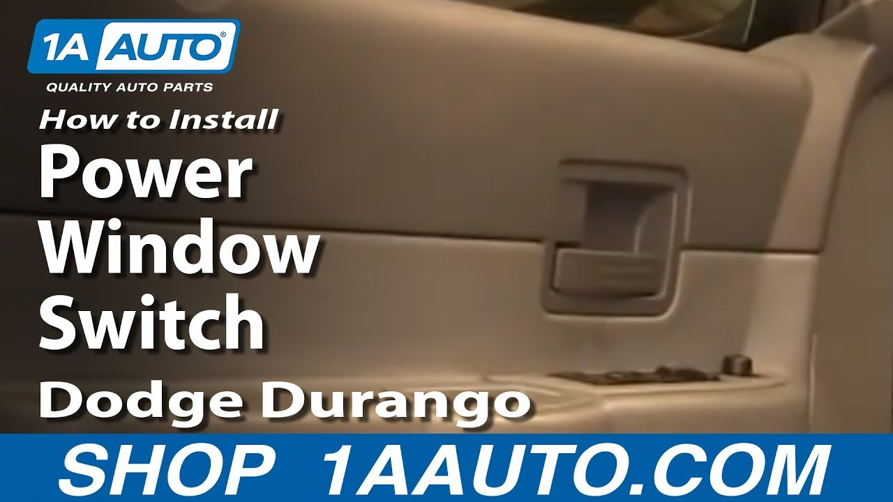 How To Install Replace Power Window Switch Dodge Durango