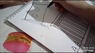 Anıtkabir resmi nasıl çizilir/çocuklar için Anıtkabir resmi