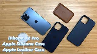 iPhone 12 Pro Apple Silicone Case vs. Apple Leather Case