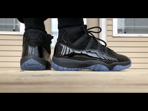 AIR JORDAN RETRO 11 CAP   GOWN aka PROM NIGHT EXCLUSIVE ON FOOT LOOK!!!!  b06b4c3e9