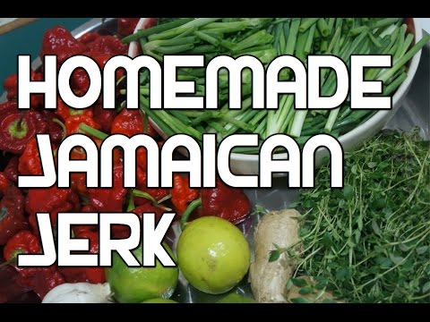Jamaican Jerk Recipe - Homemade Jerk - Jerk Sauce - BBQ Marinade Wet Version