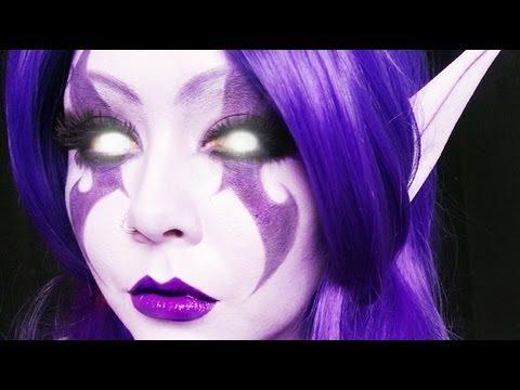Night Elf (World of Warcraft) Makeup Tutorial (PZC)