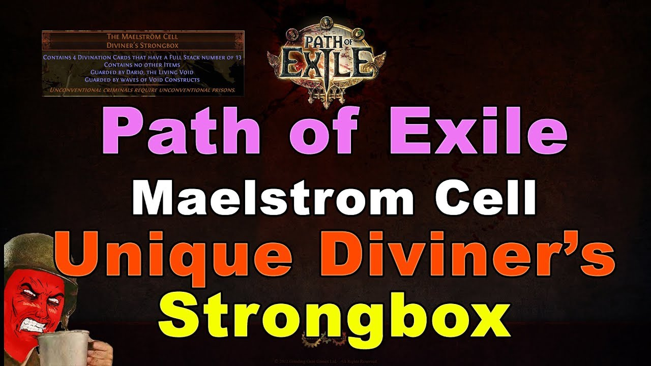 Maelstrom Cell UNIQUE DIVINER'S Strongbox in Path of Exile – DIABLO