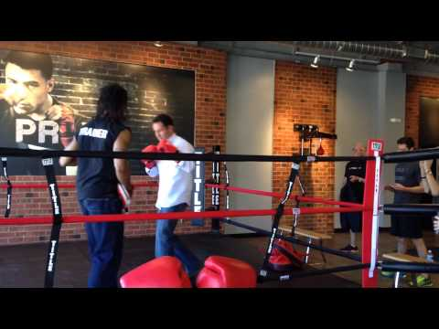 Brian Kilmeade of Fox and Friends stops by TITLE Boxing Club Nashville