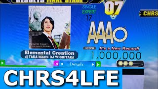 Elemental Creation (ESP-17) MFC 1,000,000 World Record!! Level-17 MFC #6!!! [DDR Ace]