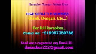 Chander Sathe Ami Debona Tomar Tulona Karaoke By Ankur Das 09957350788