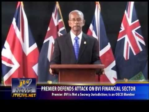 PREMIER DEFENDS ATTACK ON BVI FINANCIAL SECTOR FIX