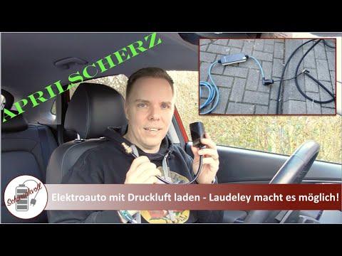 Aprilscherz: Elektroauto Laden Mit Druckluft - Laudeley Macht Es Möglich!