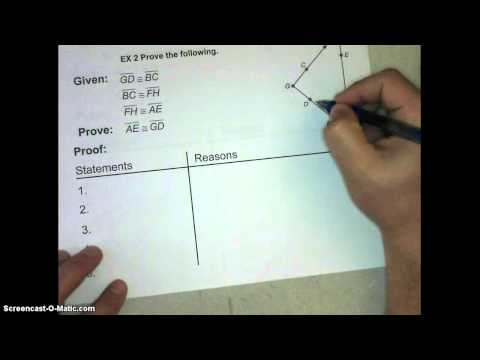 Lesson 2_7 Proving Segment Relationships Video Notes
