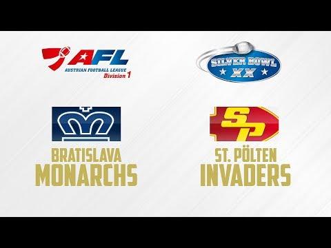Bratislava Monarchs - St. Pölten Invaders | AFL D1 | SILVER BOWL XX