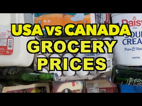 Comparing The Prices Of Everyday Grocery Items In The USA Vs. Canada