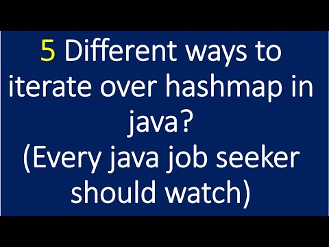 5 Different ways to iterate Hashmap in java?