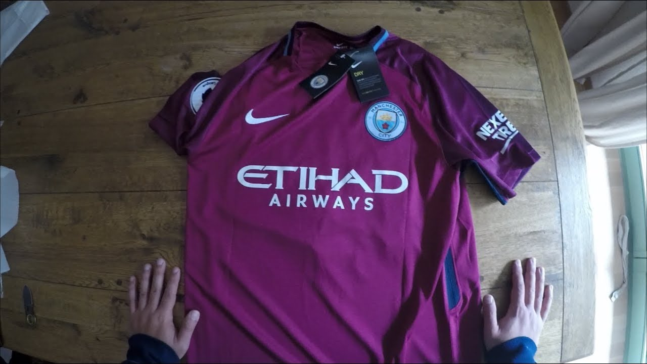 Nike Manchester City Away Jersey 17 18 Unbxoing Leroy Sané 19 - YouTube fe622d054