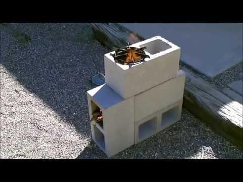 Как сложить печь из бетонных блоков